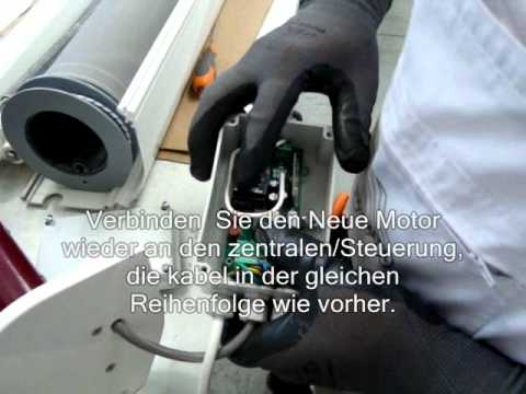 Motor Austauch Von Wintergartenmarkise Youtube