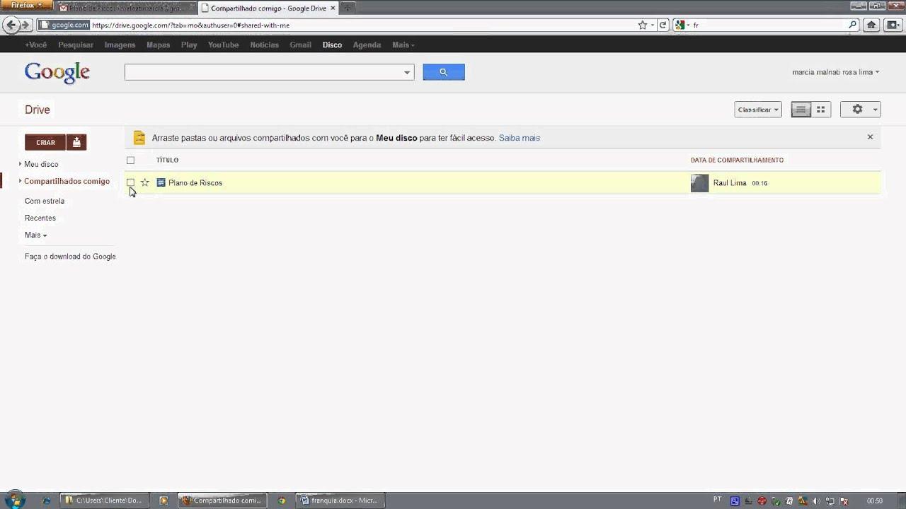 Tutorial Como alterar um arquivo compartilhado no Google Drive ...