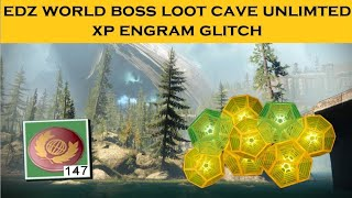 Destiny 2 FARM- EDZ LOOT CAVE UNLIMITED ENGRAMS & TOKEN GLITCH !! glitch how to farm tokens