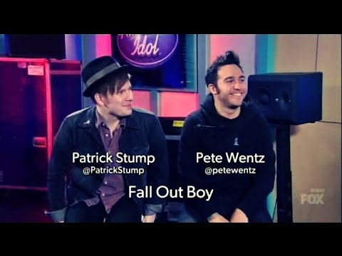 Patrick Stump and Pete Wentz from Fall Out Boy as American Idol mentors