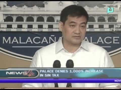 Palace denies 1,000% increase in Sin Tax