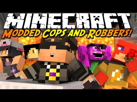 Minecraft Modded Cops N Robbers : DON'T TOUCH THE LAVA!