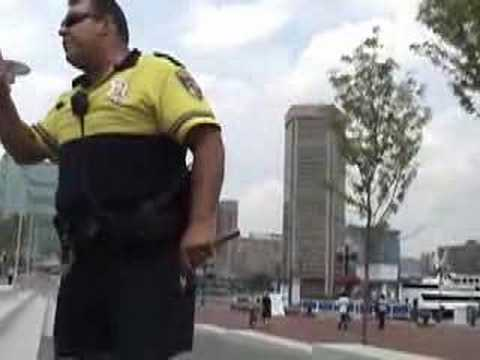 Baltimore cops VS skateboarder Video