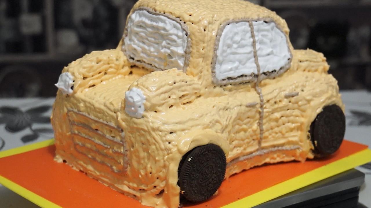 Как сделать машинку на торт своими руками