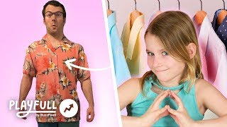 Kids Try To Dress Their Dads For A Week