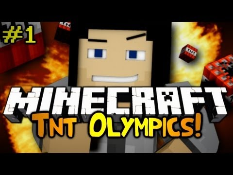Minecraft: TNT Olympics Competition! Episode 1 - Hurdles/Track Race