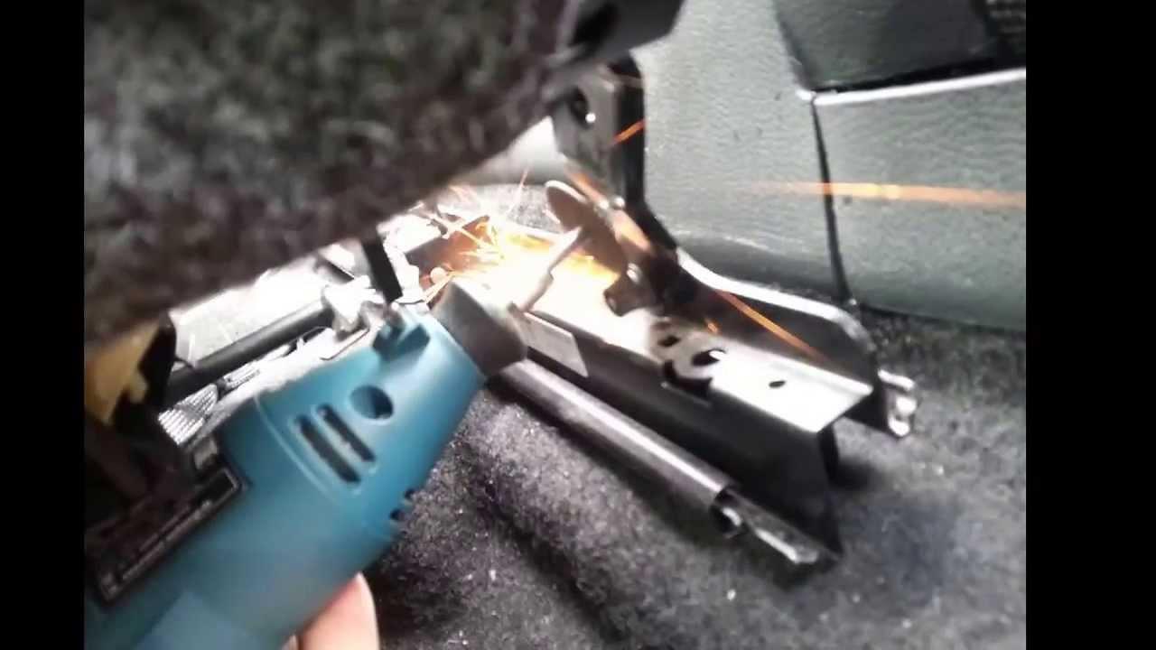 Vw Golf Mk6 Drivers Car Seat Rail Removal Stuck Jam Repair