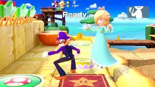 Super Mario Party - Watermelon Walkabout (Waluigi/Rosalina vs Wario/Daisy) | MarioGamers