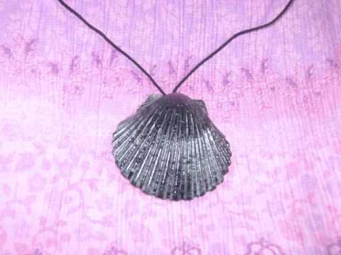 Como hacer un simple collar usando una concha marina youtube - Como hacer conchas finas ...