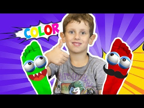 Learn Colors With Foot Painting   Funny Danny Show