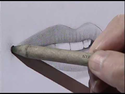 How to draw a female mouth 3/ Cómo dibujar una boca femenina 3.