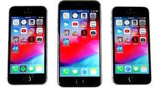 iPhone 5S vs iPhone 6 vs iPhone SE iOS 12 Speed Test!