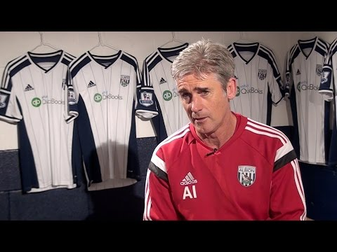 Alan Irvine is interviewed ahead of West Bromwich Albion's Premier League game at Tottenham