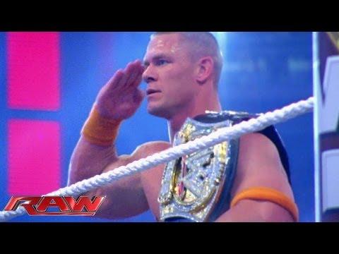 A look at John Cena's extraordinary career: Raw, Oct. 21, 2013