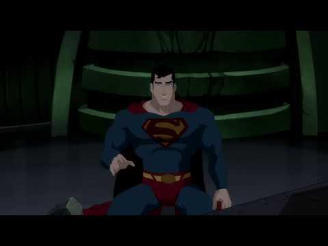Супермен и Супергёрл на корабле Брейниака