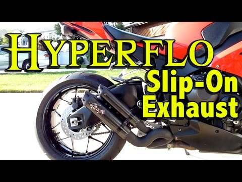 CBR1000rr Hyperflo Exhaust Install and Review - 2012 Honda CBR1000rr Slip On Exhaust