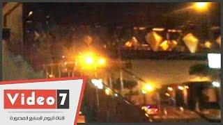 بالفيديو.. الأدلة الجنائية تعاين موقع انفجار صلاح سالم