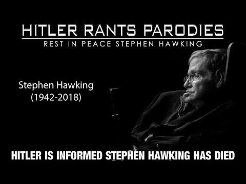 Hitler is informed Stephen Hawking has died