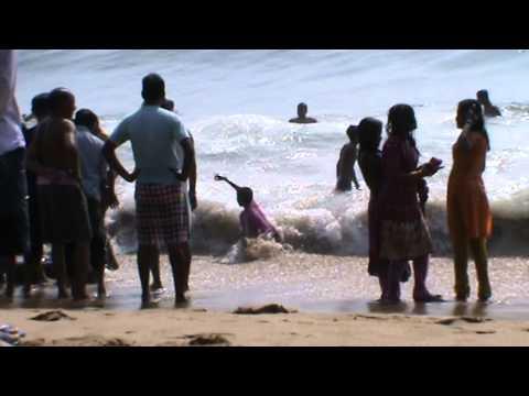 The Scenic Beauty Of Puri Beach,Odisha.