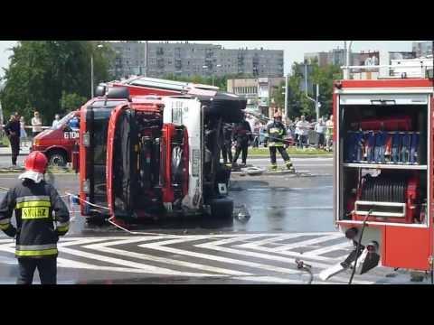 Sosnowiec Zagórze - Wypadek Straży Pożarnej