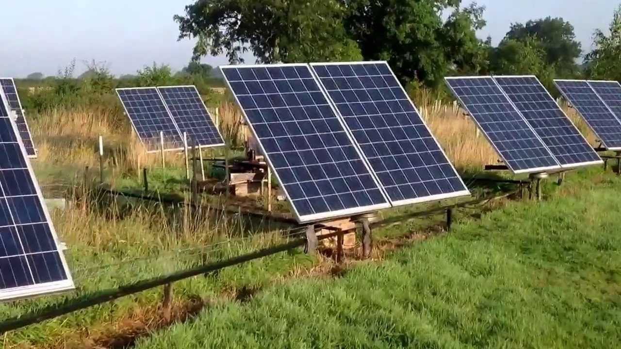 solar tracker 4kw array home made with cheap components. Black Bedroom Furniture Sets. Home Design Ideas