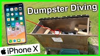 Found iphone 10 X Dumpster Diving #269 WOW! Unbelievable!