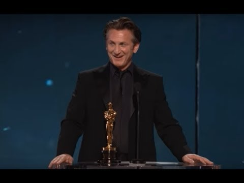 Sean Penn winning Best Actor for