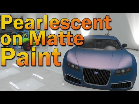 How to get Pearlescent Finish on Matte Paint in GTA Online!