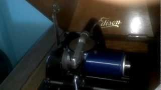 Thomas Edison's Electric Light Bulb Band Video - 1913 Edison Phonograph Playing Casey Jones 1550