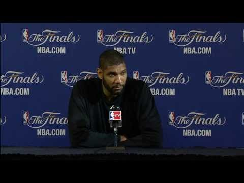 Tim Duncan NBA Finals Press Conference: Facing the Miami Heat