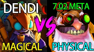 Magical vs Physical Dendi Tinker 7.02 META vs Babyknight Sniper Dota 2