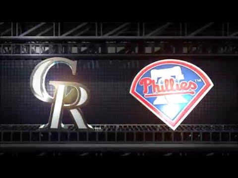 MLB The Show 18 (PS4) Rockies vs Phillies Game 2 (Full Broadcast Presentation)