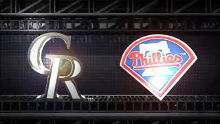MLB The Show 18 (PS4) - Rockies vs Phillies Game 2 (Full Broadcast Presentation)