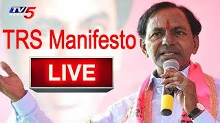 KCR Press Meet On TRS Manifesto Live