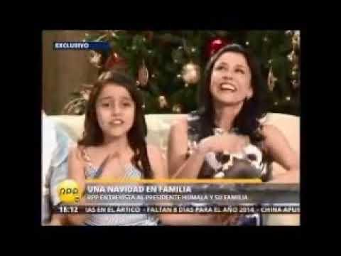 PERU: Ollanta Humala Nadine Heredia y sus dos hijas brindaron entrevista por Navidad