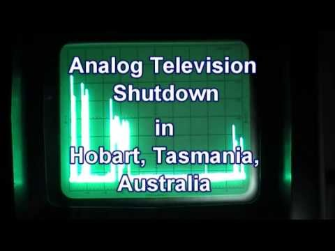 Analog Television Switch Off In Hobart Tasmania Australia