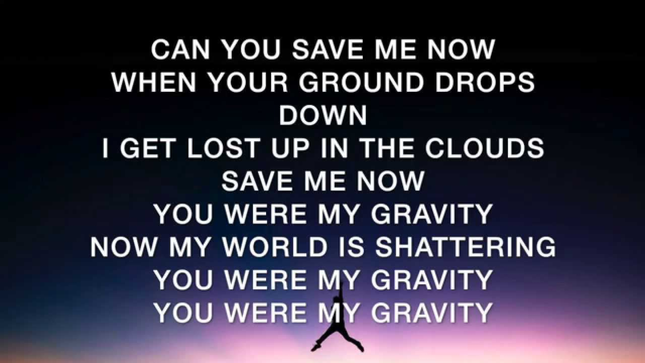 Song with gravity in lyrics