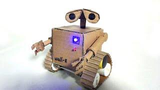 Teach you cardboard making remote control robot mobilization Wall E