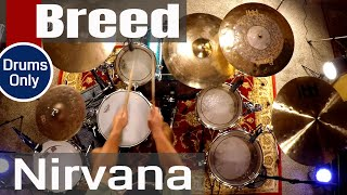 Nirvana - Breed (Isolated Drums Only / High Quality Audio) ⚫⚫⚫