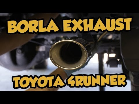 Installing a Borla cat back exhaust system into a 5th Gen Toyota 4Runner