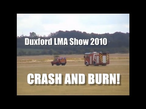 Duxford Crash Causes Huge Fire 2010 LMA Show (RC Models)