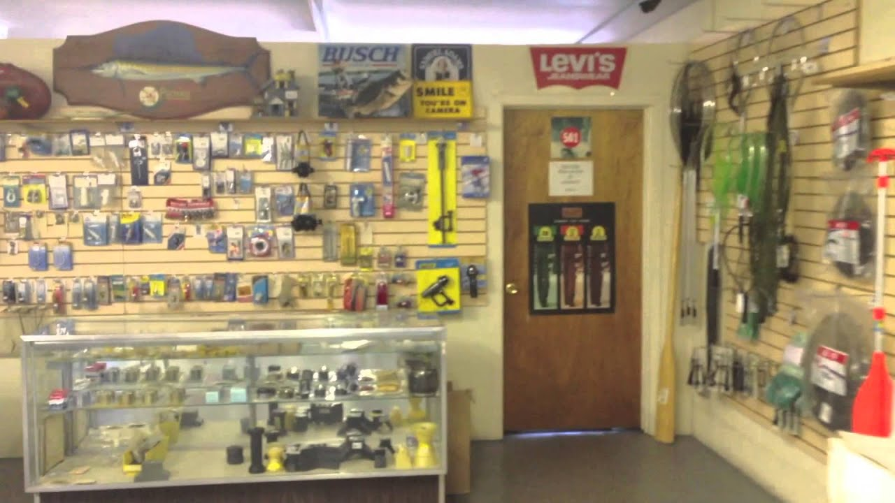 Sandy cove bait tackle fishing shop youtube for Fishing equipment stores