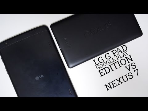 LG G Pad Google Play Edition vs Nexus 7