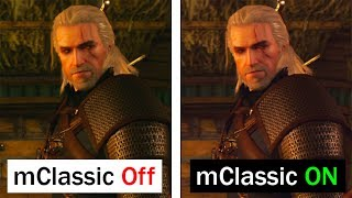 The Witcher III Switch | mClassic ON/OFF Comparison