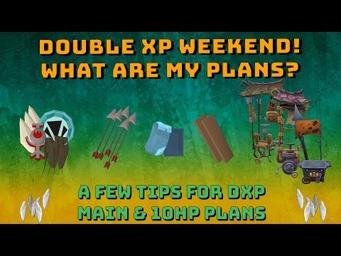 Double XP Weekend Plans & Tips For DXP! [Runescape 3] Main & 10hp Pure