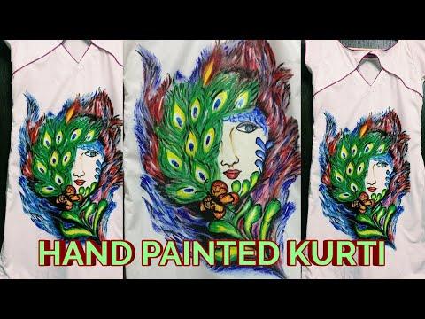 Custom Hand painted Kurti |Beauty of Nature | Mindblowing  Katy