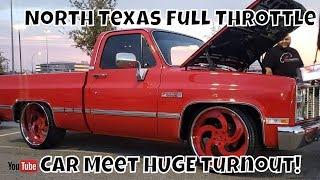 DFW North Texas Full Throttle Car Meet! HUGE Turnout!