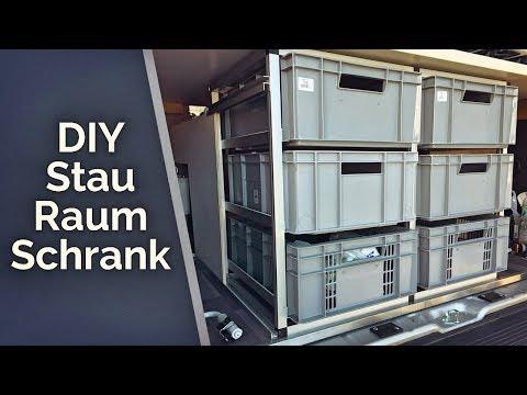 Schubladenschrank mit Euroboxen & Hundeplatz im Womo - DIY Wohnmobil Ausbau