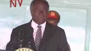 Mwai kibaki - 'I have only one wife'