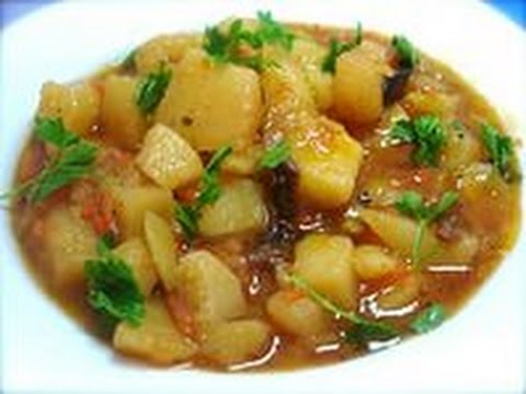 тушеная картошка с мясом.Тушеный картофель